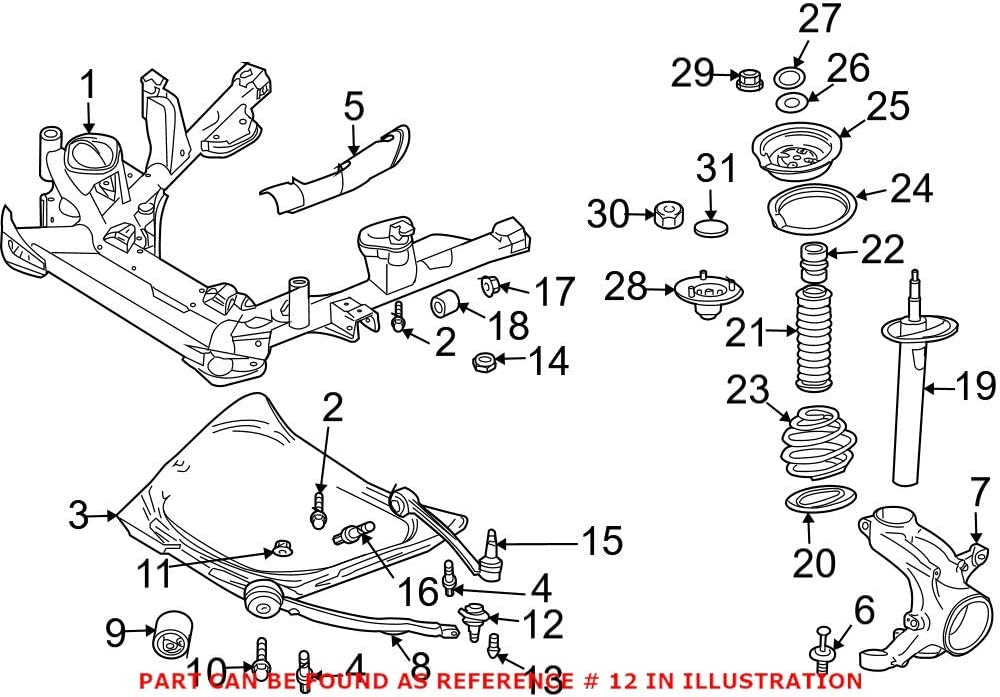 Genuine OEM Front Sale special price Forward Left or Suspension Max 85% OFF Ball Joint Right Fo