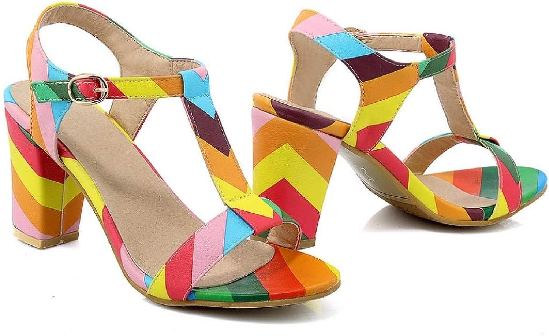 Women High Heel Sandals Fashion Classic Buckle Peep Toe shoes Comfortable Ladies Summer shoes