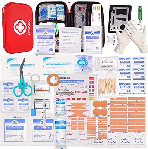HONYAO Trousse de Premier Secours, Mini Boîte Médical, 200 P