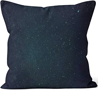 Starfield with Lyra and Vega Burlap Pillow Home Decor Throw Pillow Cover,HD Printing Cotton Linen Cushion for Couch Sofa Bedroom Livingroom Kitchen Car,28