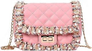 JUNMAONO Damen Bags/Umhängetasche/Frauen Taschen/Rucksack/Lässige Tasche/Schultertasche/Kosmetiktasche/Kuriertaschen Elegant Jahrgang Kette PU Segeltuch Nylon Leder Handtaschen Für Frauen
