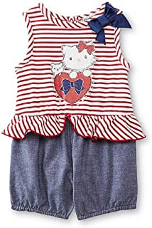 SANRIO Charmmy Kitty Baby Girl's Romper - Striped 0/3 Months