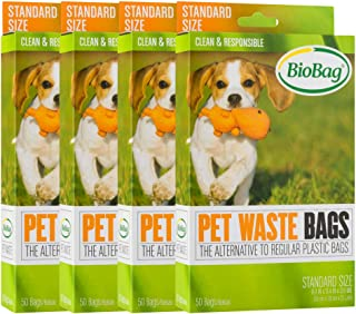 BioBag Compostable Pet Waste Bags, Standard Size, 200 Count (187105-4)