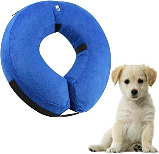 Mumoo Bear Protective Inflatable Dog Collar, Soft Pet Recovery E-Collar Cone for Dogs, Small
