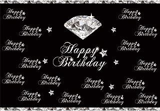 Yeele 7x5ft Silver Diamond Birthday Party Photography Background White Star Flash Diamond Silver Glittering Backdrop Baby Girl Portrait Photobooth Props Digital Wallpaper
