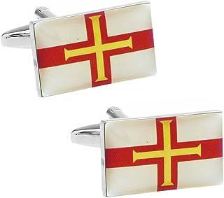 ガーンジー 国旗 カフス カフスボタン カフリンクス n01438
