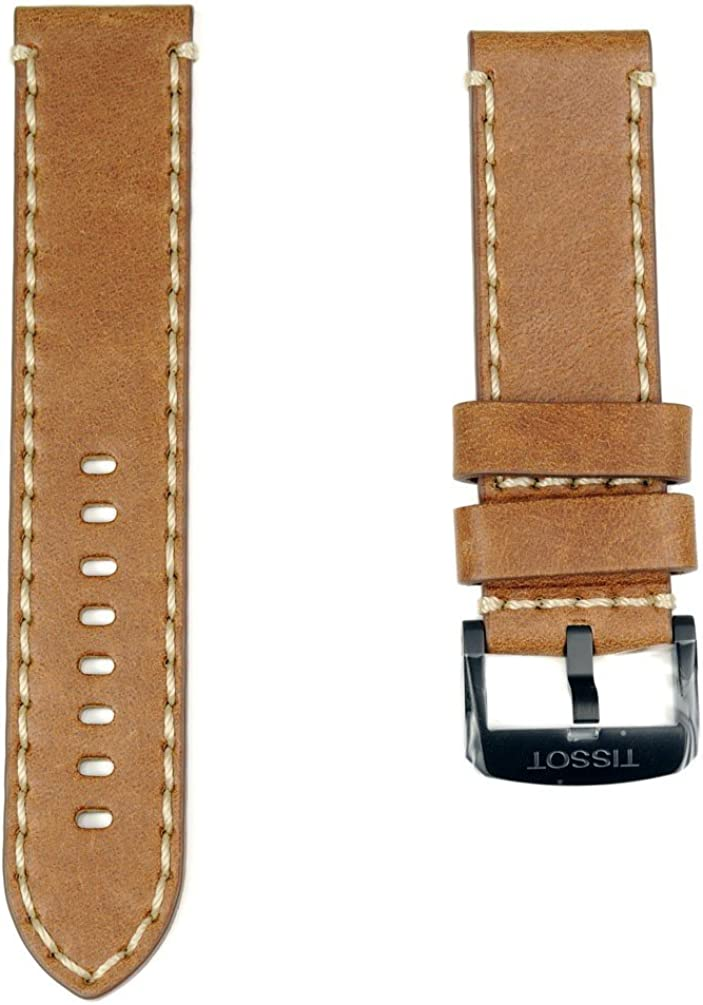 Correa Cuero marrón 22mm Tissot Chrono XL T116617A Ref.T600041406