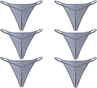 Closecret Cotton Thongs, Women's Sexy Panties Simple G-String& T-Back