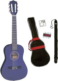 Palma PJPLOFT - Guitarra acústica con cuerdas metálicas, color morado