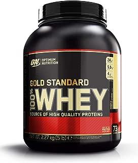Optimum Nutrition ON Gold Standard 100% Whey Proteína en Polvo Suplementos Deportivos con Glutamina y Aminoacidos Micronizados Incluyendo BCAA, Crema de Vainilla Francesa, 73 Porciones, 2.27 kg