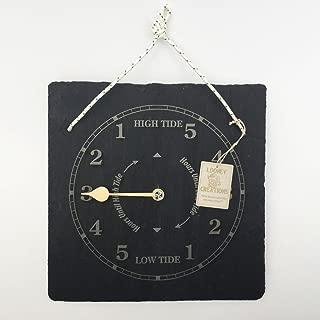 Slate Tide clock-wall hanging.Lovely coastal housewarming idea for ocean and sea users.Tide clock wall