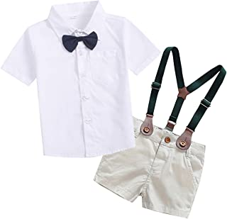 SANGTREE Baby Boys Clothes, Dress Shirt with Bowtie +...