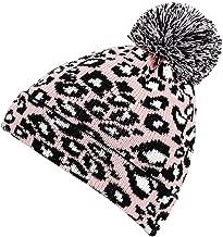 LENXH Leopard Wool Knit Hat Fashion Hit Color Cotton Cap Unisex Pullover Cap Casual Hat Autumn and Winter Warm Hat