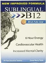 Sublingual B12 B6 + Folic Acid Fast Dissolve Tabs, 30 ct