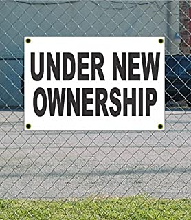 Under New Ownership 2x3 White w/Black Banner Sign