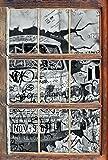 Stil.Zeit Monocrome, Trabant durch die Wand, Trabi DDR Kult Fenster im 3D-Look, Wand- oder Türaufkleber Format: 92x62cm, Wandsticker, Wandtattoo,...