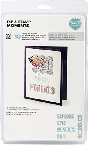 Lifestyle Dies & Stamps Set-Moments, 1.2 X.6  To 3.7 X.7