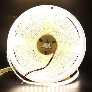 XUNATA 16.4FT LED Strip Lights, 12V 600 Units SMD 5630 Waterproof Flexible Super Bright LED Light Strips, 2 Times Brightness Than SMD5050 LED Ribbon, LED Tape Light(Warm White)