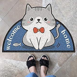 Dörrmatta med välkomnande söt katt som motiv.