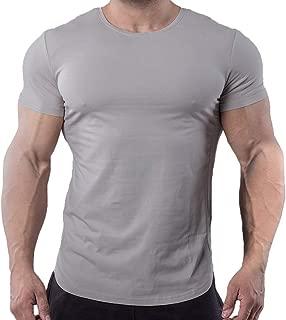 Mens Cotton Lightweight Quick-Dry Workout Short Sleeve...