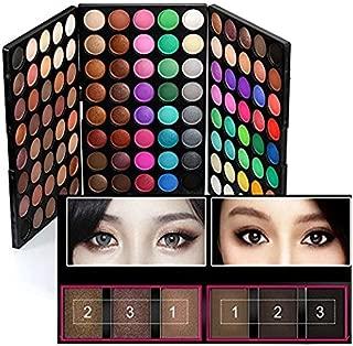120 Colors Makeup Eyeshadow Palette Natural Nude Matte Shimmer Glitter Pigment Eye Shadow Pallete Waterproof Smokey Professional Cosmetic Beauty Kit Set BESTLAND (120 Colors)