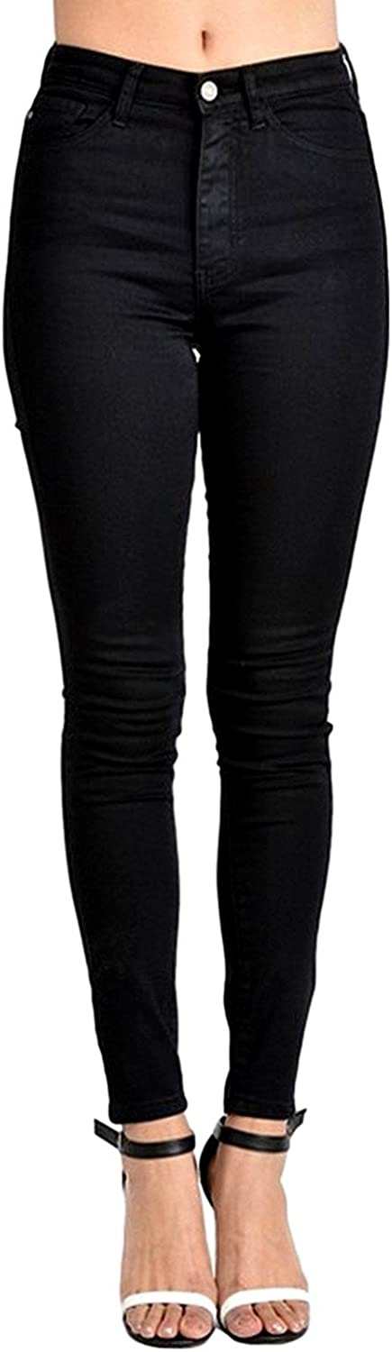 Kan Can Women's High Rise Super Skinny Jeans