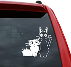 Black Heart Decals & More Studio Ghibli/Jiji and Lily Vinyl Decal Sticker   Color: White   5