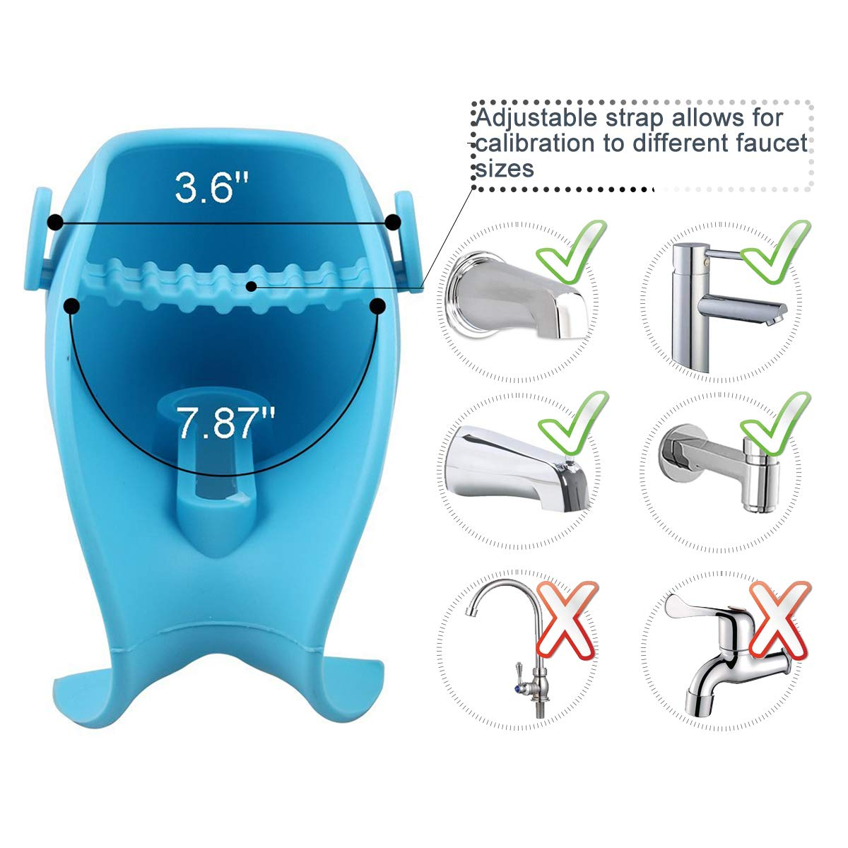 Bath Spout Cover, Universal Whale Bathtub Faucet Baby Shower Protector Cover for Kid Toddler Bath Safety (Blue)