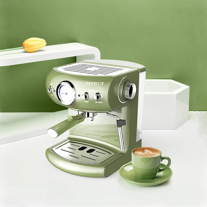 None/Brand Machine à café entièrement Automatique Pompe à Expresso rétro Maison et Mousse de Lait à Vapeur Commerciale Machine à café à Vapeur puissante Green