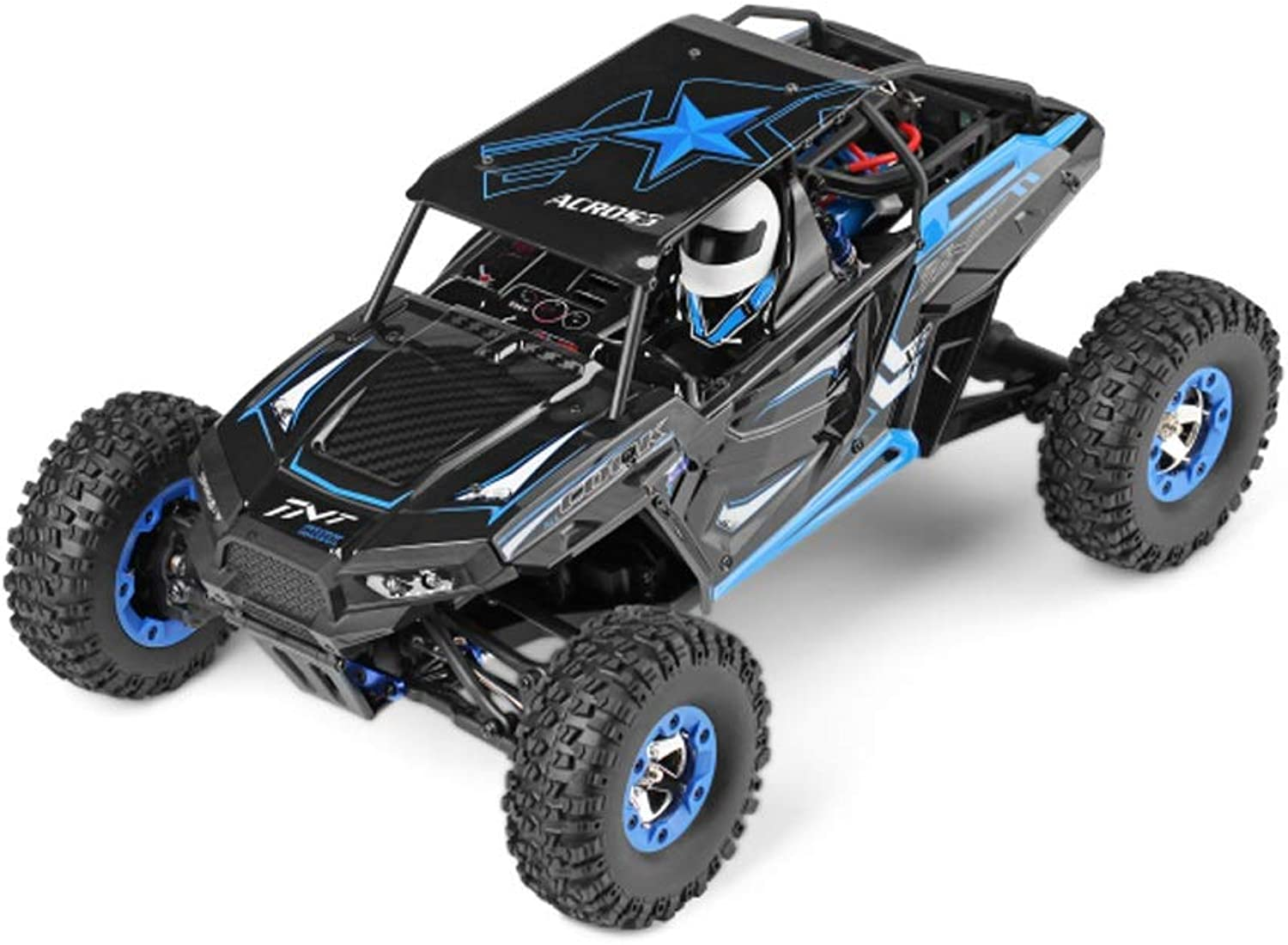 Pinjeer 3 Style Optioanl High-speed Four-wheel Drive Climbing Car 50KM H Professional Competition 1 12 Remote Control Car Model Gifts for Kids 12+ (color   bluee, Size   2-Battery)