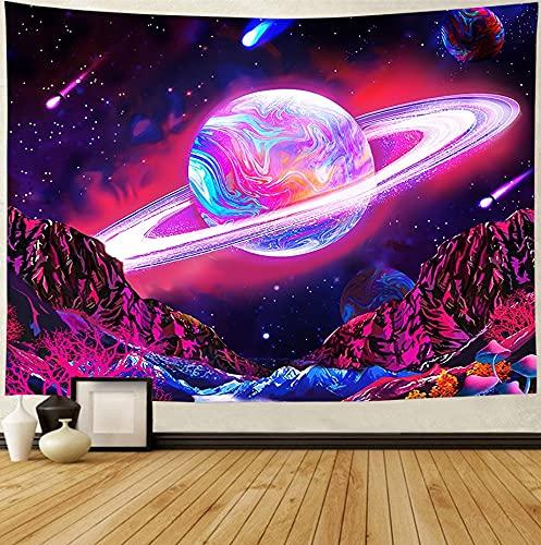 Tapiz de paisaje psicodélico colgante de pared yoga mandala tela de fondo constelación cósmica tapiz A4 180x200cm