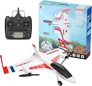 Aerobatics RC Airplane 2.4GHz 6CH 3D/6G Vertical Takeoff Land Delta Wing RC Glider Remote Control Airplane,Indoor Hover Flight,Built-in Gyroscope Self-stabilization,RC Aircraft Drone (A-X520)
