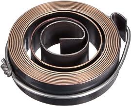 Sourcingmap - Muelle de prensa de taladro, ensamblaje de resorte de bobina de retorno de alimentación, acabado químico de resorte de acero de 14 mm de largo, 47 x 30 x 0,7 mm (ODxWxT), 1 x 19 x 1800mm