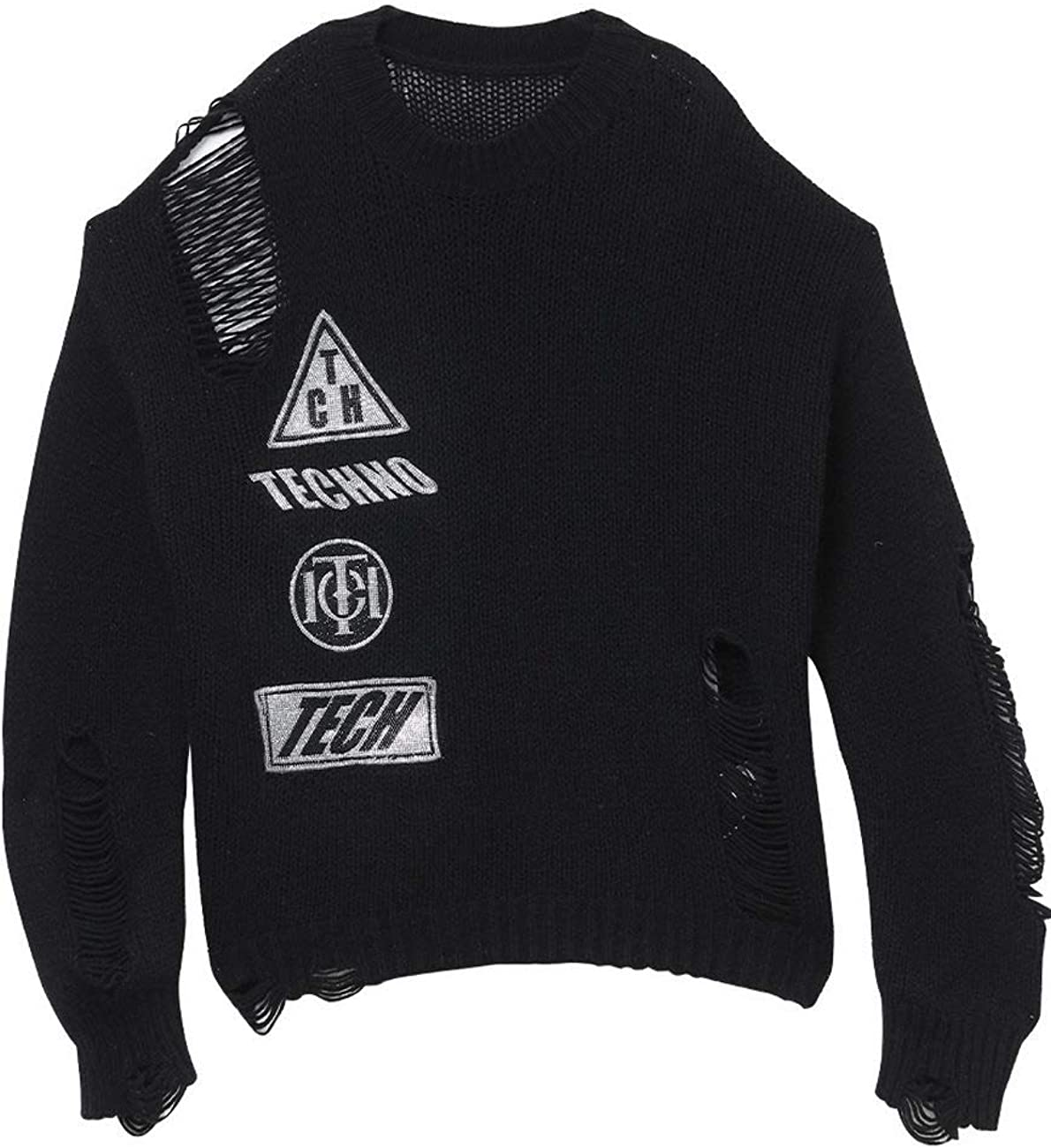 Hole Tide Brand Casual Sweater Knitted Sweater T204093008