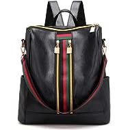 Backpack Purse for Women Shoulder Bag Rucksack PU Leather Backpack Casual Lightweight Travel Bag…