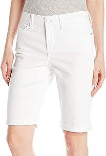 NYDJ Womens P77Z1684 Petite Size Briella Roll Cuff Jean Short in Colored Bull Denim Jeans