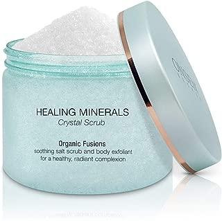 Amazing Exfoliating Body Scrub - Best Moisturizing Scrubs for Women Crystal Clear Sea Salt, Organic Skin Exfoliator with All Natural Coconut and Jojoba Oil - 13.8 fl oz/395 ml - Organic Fusion