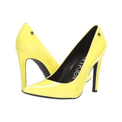 Calvin Klein Brady (Yellow Flourescent) High Heels