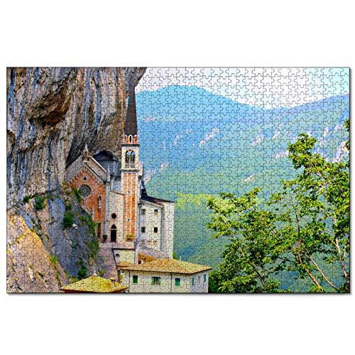 Italia Madonna Della Corona Veneto Puzzle pour adultes 1000 pièces Souvenir de voyage en bois 30x20 pouces
