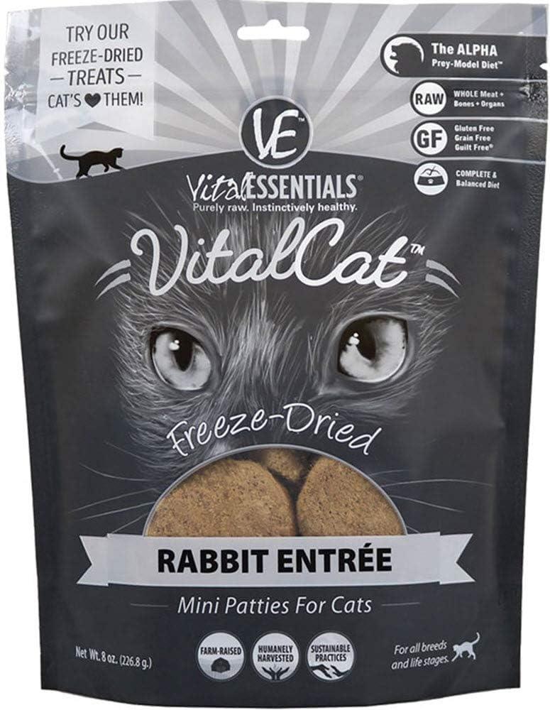 VITAL CAT Rabbit Mini Patties Freeze-Dried Grain Cat Free Food 8 wholesale free shipping