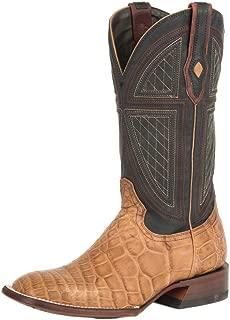 Stetson Flaxville Mens Tan Alligator Cowboy Boots