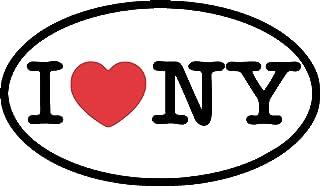 Indigos UG Sticker Autosticker JDM Die Hart - I Love NY Bumper Sticker Heart New York Oval Car Decal 127 mm X 76 mm