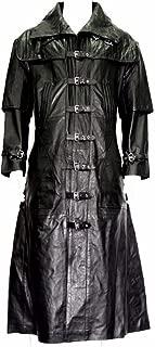Men's Fashion Captain Long Van Helsing PU Leather Jacket Coat
