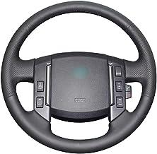 LUVCARPB Cubierta del Volante del automóvil, Apto para Land Rover Freelander 2 2007-2012, Accesorios Interiores cosidos a Mano de Bricolaje