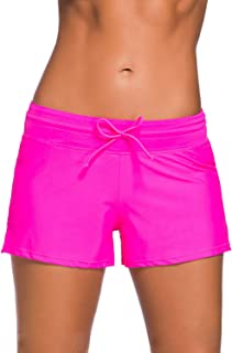 4fa078eeffe80 Lechesis Women Sports Summer Tankini Bottom Slit Swim Beach Board Shorts  Plus Size S-3XL