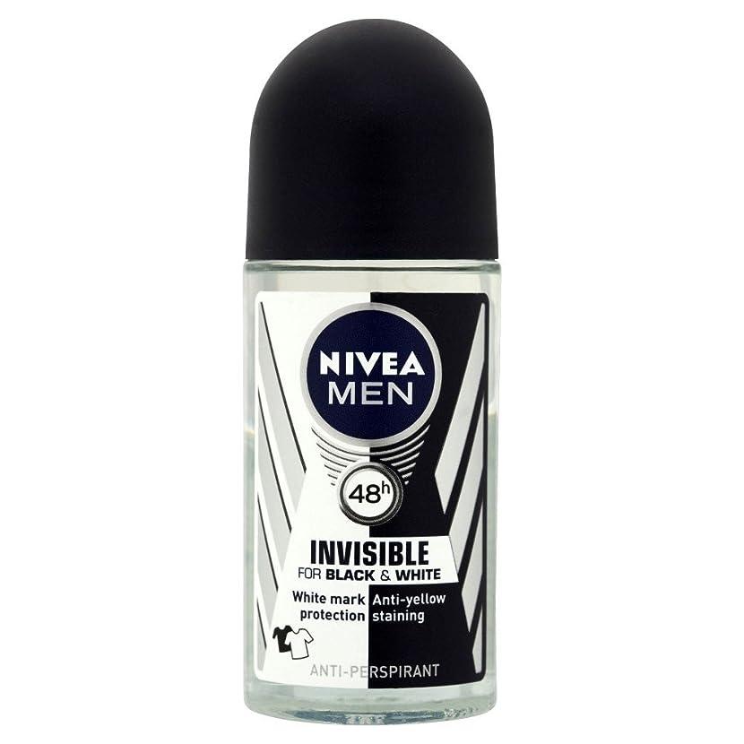くるくる逆さまにミルクNivea Men Invisible for Black & White 48h Anti-Perspirant Deodorant Power Roll-On (50ml) 黒と白の48時間制汗消臭パワーロールオン( 50ミリリットル)用のニベアの男性に見えない [並行輸入品]
