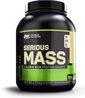 Optimum Nutrition ON Serious Mass Proteína en Polvo Mass Gainer, con Vitaminas, Creatina y Glutamina, Vainilla, 8 porciones, 2.73 kg, Embalaje puede variar