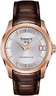 Tissot Couturier Automatic Silver Dial Ladies Watch T0352073603100