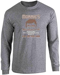 Pop Threads Morrie's Wig Shop Halloween Costume Full Long Sleeve Tee T-Shirt