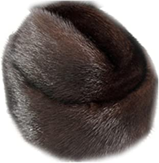 Men's Mink Hat Russian Cossack Cap President Trapper Winter Hat for Birthday Father's Day